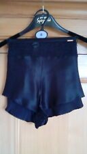 M&S Autograph Ladies Black Luxurious Silk & French Lace French Knickers Size 12