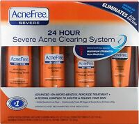 AcneFree Severe 24 Hour Severe Acne Clearing System - Acne Solution Treatment