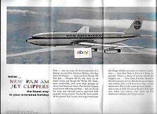PAN AM 1964 EUROPEAN HOLIDAY TOUR GUIDE BOEING 707 JET CLIPPER PARIS COVER