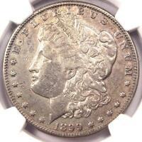 "1899-O ""Micro O"" Morgan Silver Dollar $1 - NGC AU Details - Rare Variety!"