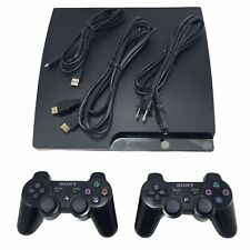 Sony Playstation 3 PS3 Slim 160Gb Console w/ Controllers and Cables - CECH-2501A