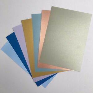Pearlescent Card A4 Single Sided Sheets (310gsm) Pack 10 - Choose from 7 Colours