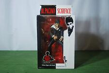 "Scarface Al Pacino Tony Montana Mezco 10"" Talking Action Figure Black Suit New"
