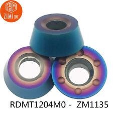 10pcs RDMT1204 M0 ZM1135 milling cutter inserts R6 carbide inserts RPMT1204