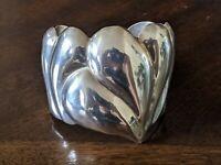 Los Ballesteros TAXCO Mexico 925 Sterling Silver Designer Cuff Bracelet 80 Grams