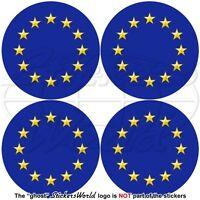 "EUROPE European Union Flag Roundels EU 50mm(2"") x4 Bumper-Helmet Decals Stickers"