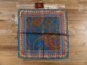 ETRO Milano paisley motif silk pocket square authentic - NWT