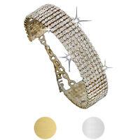 NEW Fashion Womens Crystal Rhinestone Bracelet Bangle Wedding Bridal Wristband