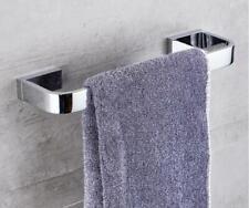 Bathroom Towel Rack Holder Single Rail Wall Mount Accessory Hanger Chrome Brass