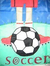 Soccer 11 X 15 Mini Garden Flag New Item! Banner