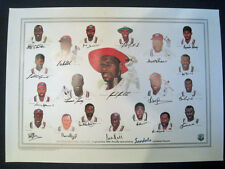 WEST INDIES-Ltd Edtn Print of 1995 Tour Team .Invidual pictures signed by each