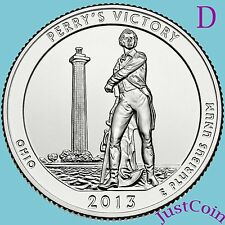 2013-D PERRY'S VICTORY MEMORIAL (OHIO) QUARTER UNCIRCULATED FROM U.S. MINT ROLL