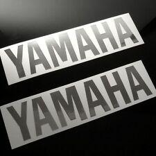 "CHROME YAMAHA TANK DECALS, SET OF 2, (8""x 2"") r6 r1 fzr fjr1300 yzf fz1 fjr"