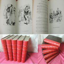MUSIQUES & CHANSONS DE BERANGER 5/5 Vols 80 planches par Grandville 1868