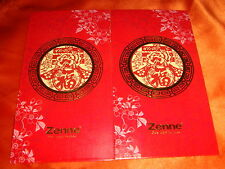 Scarce Zenne® Hard-to-Find Angpow Hongbao Envelops, New, 2 pieces