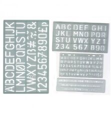 4 PLASTIC STENCILS ALPHABET UPPER CASE LETTERS & NUMBERS A-Z & 0-9 SIGN WRITING