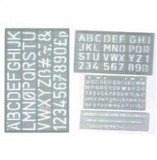 4 Plastique pochoirs Alphabet Majuscules et Chiffres A-Z & 0-9 Signe écrit