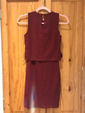 #P30 ASOS RED BODYCON DRESS SIZE 4 - NEW