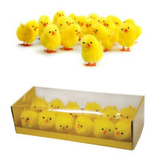 12 Easter Chicks Fluffy Yellow Plush Yellow Decorative Mini Chickens Kid's Play