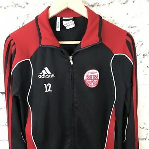Adidas Portland Timbers Alliance Black and Red Track Jacket Climacool Youth Sz L