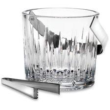 Soho Crystal Ice Bucket by Reed & Barton w/ Tongs ~ NEW
