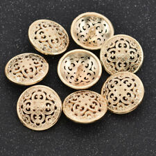 8pcs DIY Round Gold Metal Buttons Jeans Coat Button Sewing Clothes Accessories