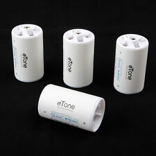 4 pcs Eneloop Battery Adaptor Converter Spacer Case Box AA R6 to D R20 D Size