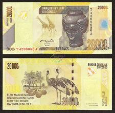 CONGO D.R. 20,000 20000 Francs 2006 P-104 UNC Uncirculated