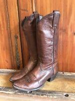 Vintage Tony Lama Womens Cowboy Western Boots Brown Size 6.5 M Enjoy!