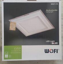 WOFI NANCY Deckenleuchte weiß / Chrom Decken-Leuchte Lampe Licht LED 17,5W 28cm