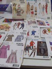 Bulk Lot #3 18 Sewing Patterns, Kwik Sew Some Vintage, Bevknit Manual Sizes Vary