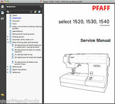 Pfaff Select 1520, 1530, 1540 SERVICE MANUAL & PARTS CATALOG -2- MANUALS CD