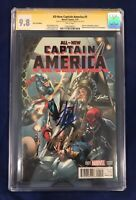 All-New Captain America #1 Campbell Cover CGC 9.8 Signed by Stan Lee & Campbell!