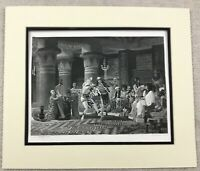 1874 Print Pastime in Ancient Egypt Alma Tadema Painting Antique Engraving