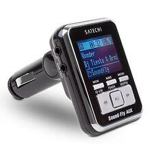 SoundFly AUX OUT Lettore MP3 Auto Trasmettitore FM per SD Card Chiavetta USB giocatori iPo