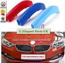 3D ABS Rejilla de Coche 3 Colores Decoración de deporte tira de ajuste para BMW 4 Series 2013-15