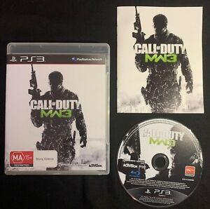 PlayStation 3 Call of Duty Modern Warfare 3 MW3 Game Complete w/ Manual FREEPOST