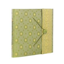 Fair Trade Handmade Large Green Sari Photo Album, Scrapbook 2nd Quality