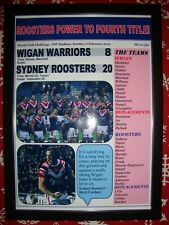 Wigan Warriors 8 Sydney Roosters 20 - 2019 World Club Challenge - framed print
