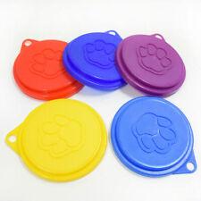 5× Plastic Reusable Pet Dog Cat Food Can Cover Storage Cap Lids Tin Top 8.8cm