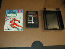 """1980 PHILIPS VIDEOPAC """"SKIING"""" VIDEO CARTRIDGE NO.25 W/BOOK & CASE"""