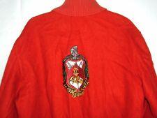 Vtg Sorority Jacket Delta Sigma Theta Delong USA Sz 42 Red Wool frat coat