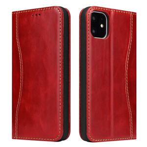 Fierre Shann Echt Leder Flip Wallet Case Schutzhülle Stand Für iPhone 11 Pro Max