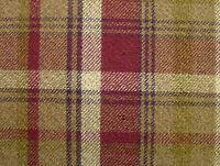 10m Elgin Heather Wool Effect Thick Tartan Upholstery Curtain Designer Fabric