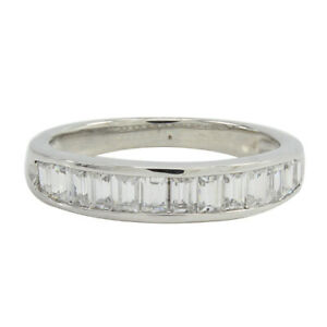 HSN Victoria Wieck Baguette Cut Cubic Zirconia Band Ring Size 8