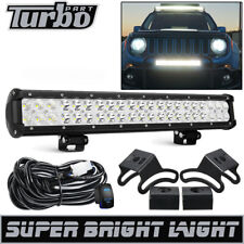"20"" Led Work Light Bar Fit 2015-2018 Jeep Renegade Bull Bar Bumper Grille Guard"