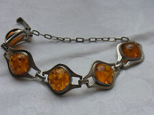 Design Amber Ambre Bracelet Bracelet Barcelet Ambre Fischland Argent Nº 15