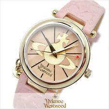 Vivienne Westwood Orb II VV006PKPK Pink Dial Leather Strap Ladies Watch