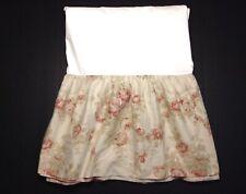 Ralph Lauren Queen Bedskirt Heartland Floral Beige Rose Dust Ruffle Bed Skirt