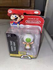 World of Nintendo Super Mario Bros. Green Toad (2018) Jakks Pacific Figure RARE